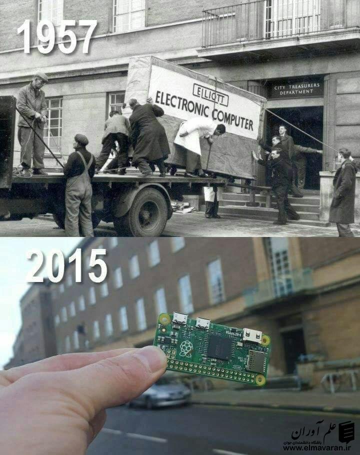 مقایسه یک کامپیوتر در سال 1957 و سال 2015 * علم آوران / باشگاه دانشمندان جوان