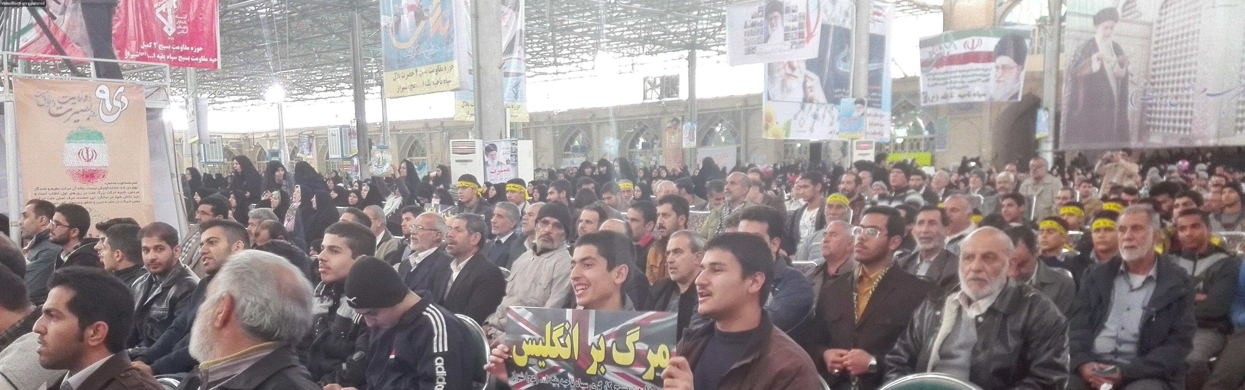 حضور دانش آموزان دبیرستان شاهد سید احمد خمینی(ره) در تجمع 9 دی