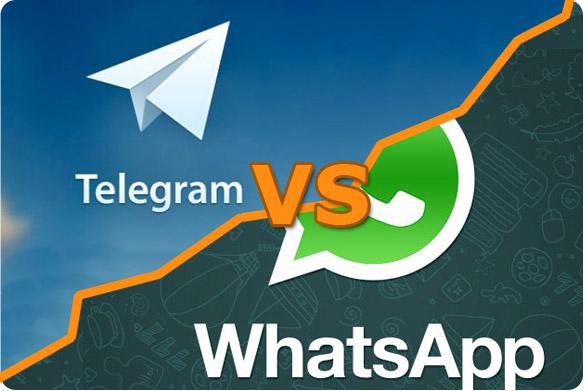 رقابت تلگرام با واتساپ ، کدام بهتر است ؟