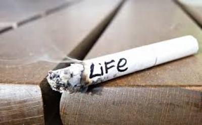 سوزاندن زندگی با سیگار