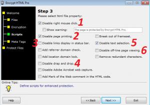 Encrypt HTML Pro,اموزش رمز گذاشتن روی کدهای html,encrypt html code,کد,اینکد کردن کدها,incode,نرم افزار بستن راست کلیک در وبلاگ و سایت,جلوگیری از انتخاب متن صفحات html,کپی رایت