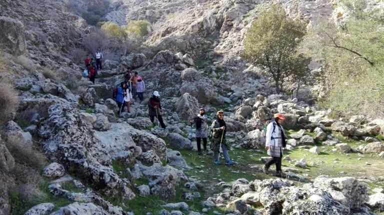 صعود به ارتفاعات دره سنجد