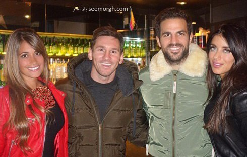 گردش خانوادگی فابرگاس و مسی در شهر بارسلون , اخبار ورزشی