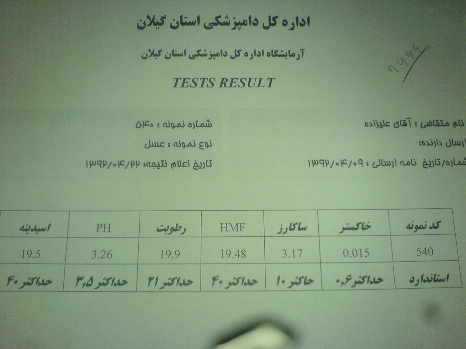 تایید آزمایشگاه