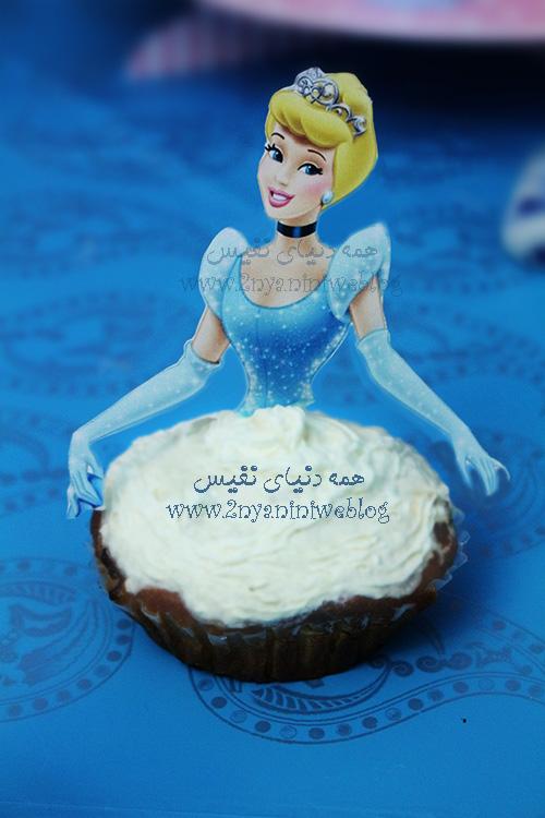 blue cinderella theme party happy footprint birthday helma 17month's کاپ کیک سیندرلا جشن قدم جشن تاتی حلما 17ماهگی اولین قدم مبارک تم تولد سیندرلا لباس آبی