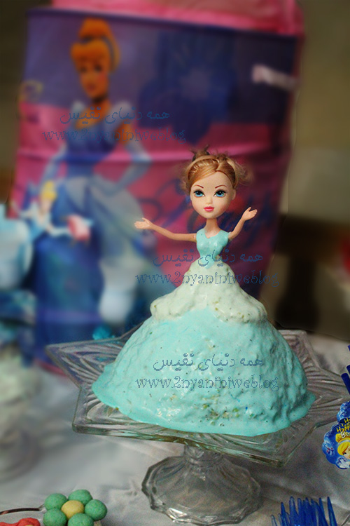 blue cinderella theme party happy footprint birthday helma 17month's سالاد الویه شکل سیندرلا جشن قدم جشن تاتی حلما 17ماهگی اولین قدم مبارک تم تولد سیندرلا لباس آبی