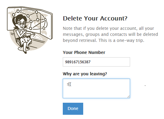 حذف دلت اکانت فلگرام برچسب ها