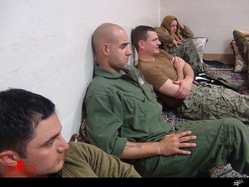 عکس تفنگدار زن آمریکایی دستگیر شده توسط سپاه
