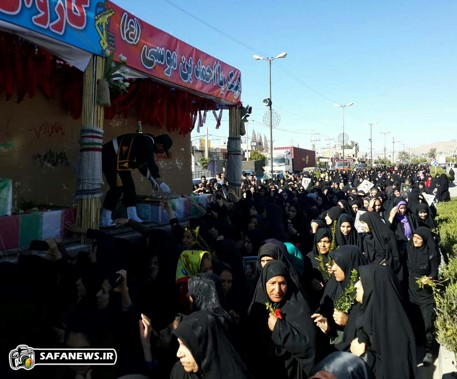 گزارش تصویری استقبال مردم خفر از کاروان شهدای گمنام