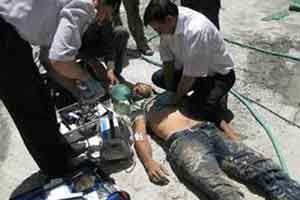 صاحبعزا تیر هوایی شلیک کرد، عزاداران را برق گرفت