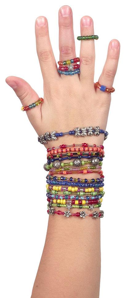دستبند رنگی دخترانه