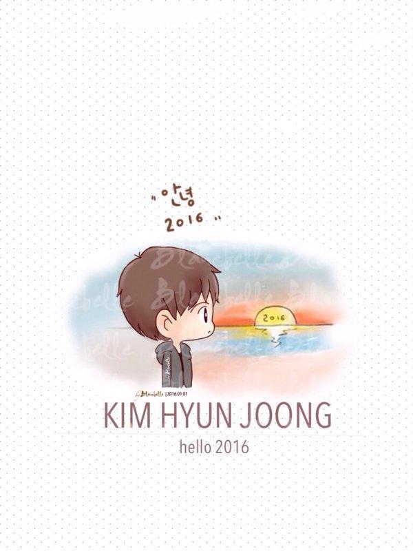 [blancballe Fanart] Kim Hyun Joong - Hello 2016 [2016.01.01]