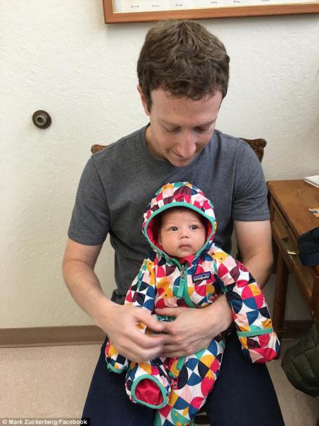عکس دختر مارک زاکربرگ با یک میلیون لایک در فیس بوک !! , تصاویر دیدنی
