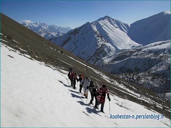 مسیر قله آهار بشم