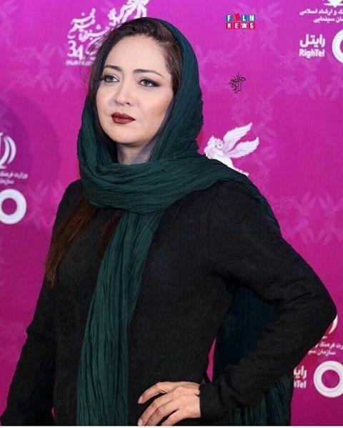 چهره و پوشش ساده نیکی کریمی در جشنواره فیلم فجر