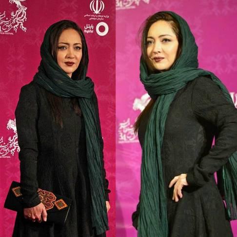 چهره و پوشش ساده نیکی کریمی در جشنواره فیلم فجر , عکس های بازیگران