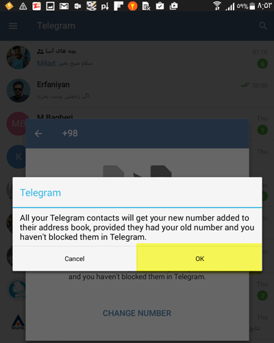 4.1 انتقال اکانت تلگرام به شماره جدید بدون از دست دادن اطلاعات