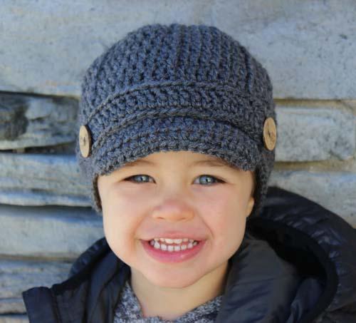 آموزش بافت کلاه لبه دار پسرانه
