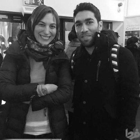 عکس بازیگر زن کشورمان با خواننده استیج من وتو !! , چهره های ایرانی