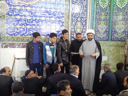 اهدائ جوایز برندگان مسابقه دومیدانی و صحرانوردی رهروان شهداء