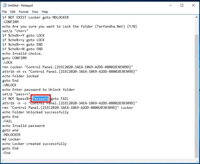 ترفند گذاشتن رمز عبور بر روی یک پوشه در ویندوز,پوشه,ترفند,ترفند ویندوز 10,رمز گذاشتن روی پوشه,قفل,مخفی,نوت پد,اموزش گذاشتن رمز عبور روی پوشه در ویندوز,set a password on folders in windows,ترفندهای ویندوز,lineee.ir