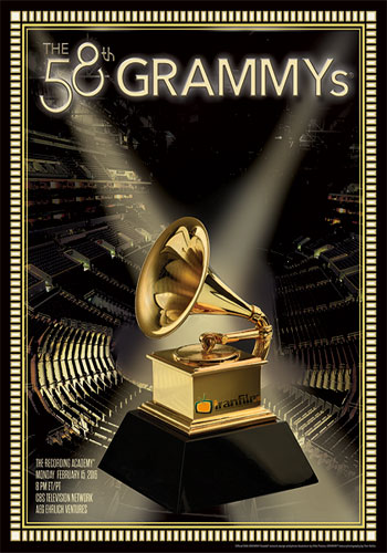 58 poster - دانلود مراسم The 58th Annual Grammy Awards