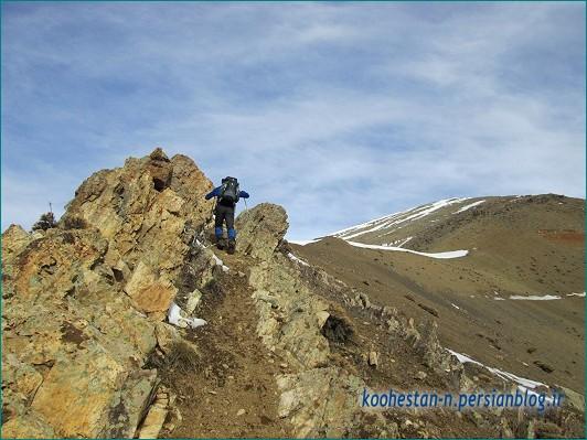 مسیر قله سیاه سنگ از سنگان