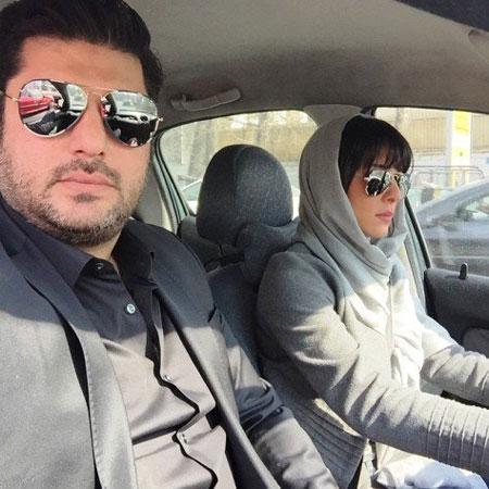 سلفی سام درخشانی و همسرش عسل امیرپور , عکس بازیگران