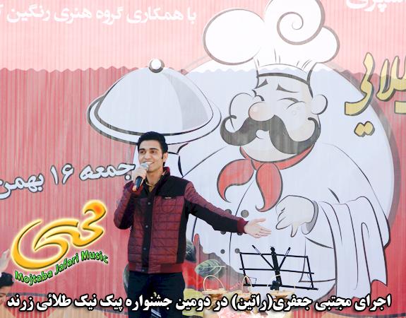 عکس اجرای زنده مجتبی جعفری در جشنواره آشپزی زرند
