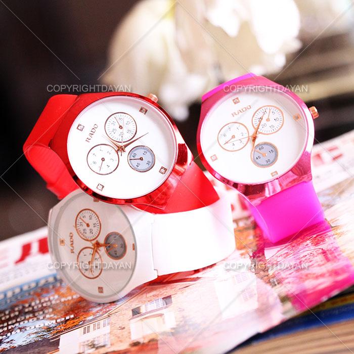 ساعت مچی رادو قرمز سفید و صورتی