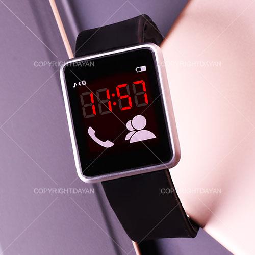 ساعت مچی طرح اپل مشکی رنگ