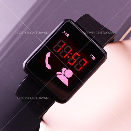 ساعت مچی طرح اپل سیاه رنگ