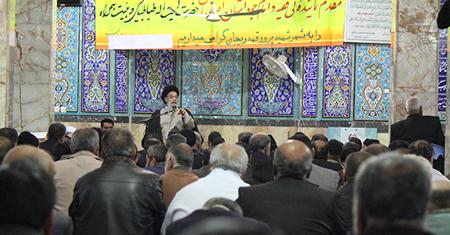 سخنرانی امام جمعه اصفهان در مسجد بزرگ قهدریجان