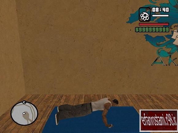 مد انجام حرکات ورزشی برای بازی GTA SA