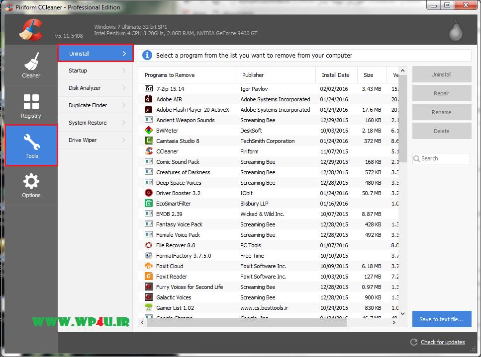 آموزش بهینه سازی ویندوز با CCleaner - 3