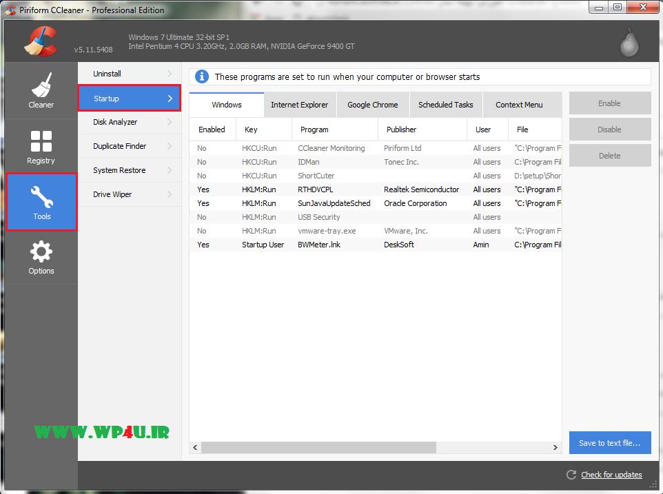 آموزش بهینه سازی ویندوز با CCleaner - 4