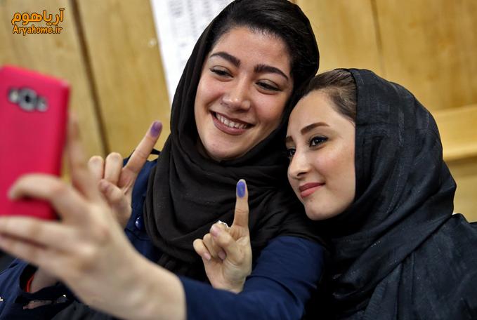 حضور گسترده دختران در انتخابات !! , تصاویر دیدنی