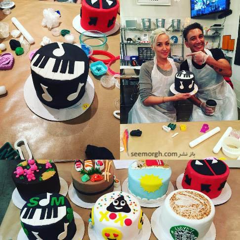 شادمهر عقیلی و همسرش درحال پختن کیک! , چهره های ایرانی