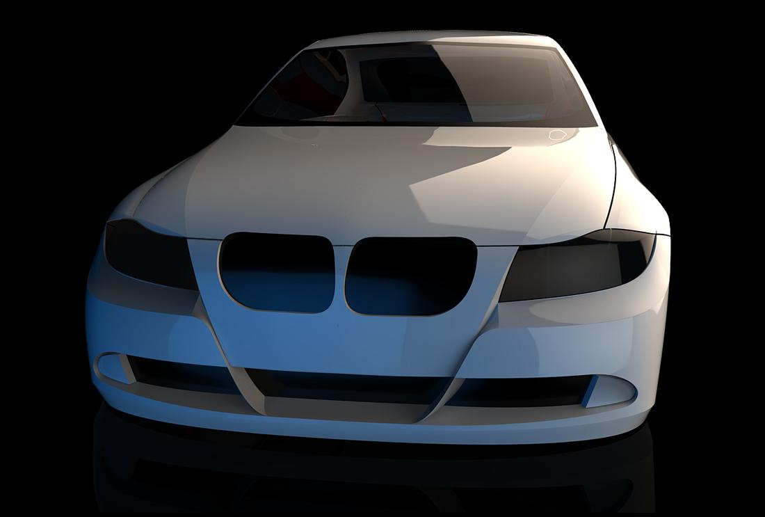 مدل سه بعدی بدنه bmw