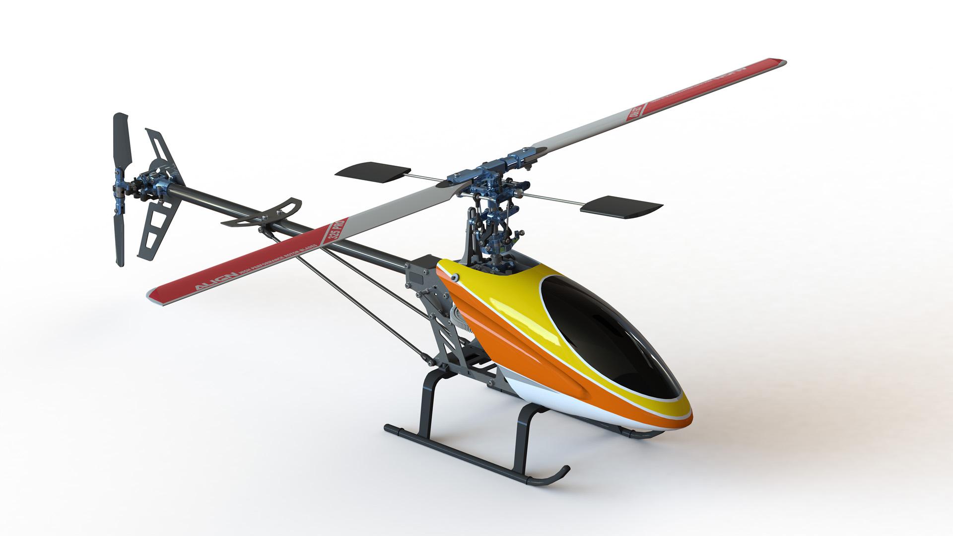 نقشه سه بعدی هلیکوپتر