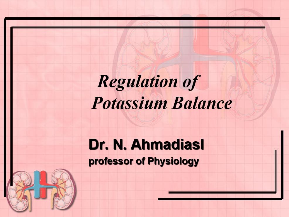 دانلود اسلاید های دکتر احمدی - Regulation of potassium Balance