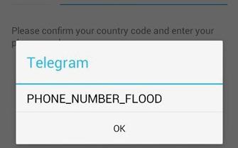 آموزش حل مشکل Phone Number Flood در ثبت نام در تلگرام