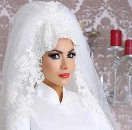جدیدترین مدل تاج و تور عروس های محجبه 2016 و 95