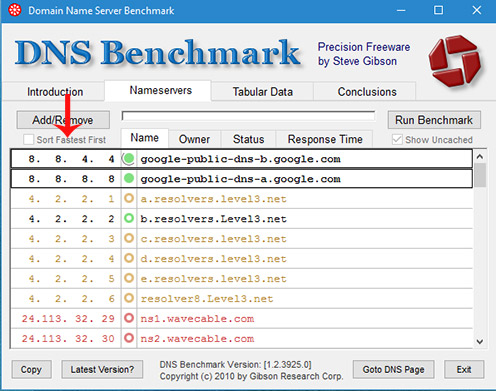 DNS چیست,DNS گوگل,بهترین DNS چیست,جستجوی بهترین دی ان اس,دانلود نرم افزار DNS Benchmark,دی ان اس,نرم افزار جستجوی DNS,نرم افزار دی ان اس,افزایش سرعت اینترنت