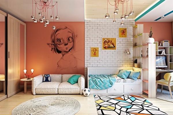 اتاق خواب کودک برای ایجاد خلاقیت