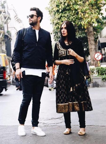 تیپ هندی جالب همسر بنیامین ، در بمبئی ! , اخبار سینما
