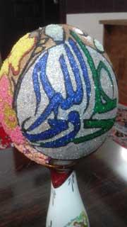 تخم شترمرغ - تزیین شده