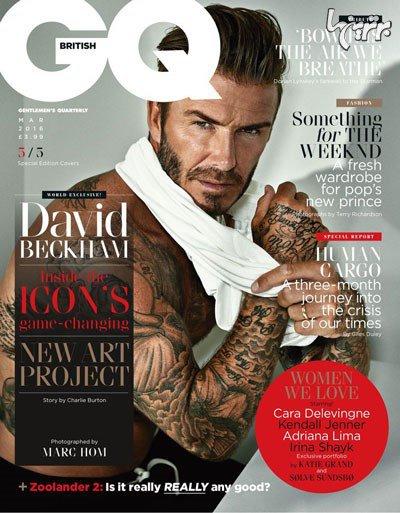 بهترین عکس های دیوید بکهام روی مجله GQ