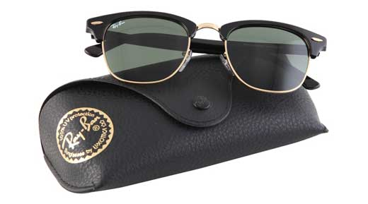 عینک آفتابی زنانه ریبن کلاب مستر با کیف و دستمال