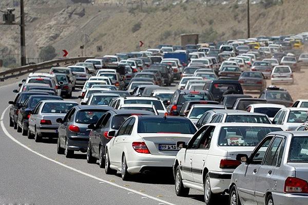 وضعیت ترافیک در محور کرج چالوس شنبه 29 اسفند 94